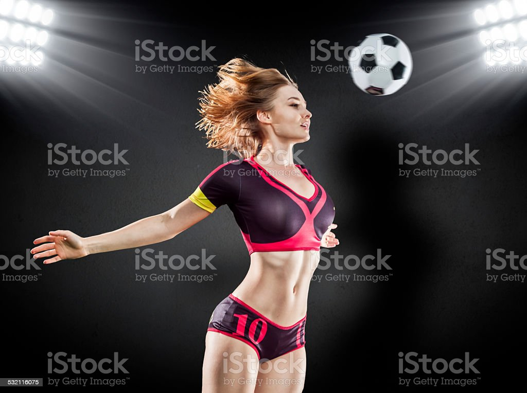 Sexy Soccer Player stock photo