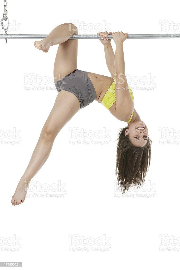 Sexy striptease dancer smiling royalty-free stock photo