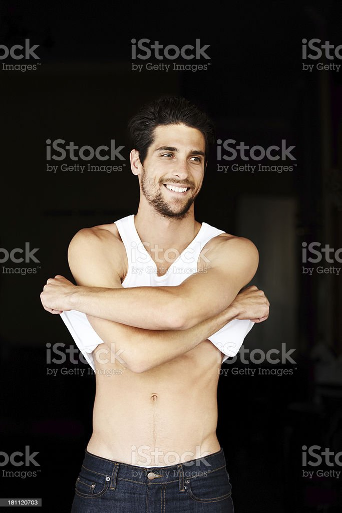Sexy, strong and seductive royalty-free stock photo