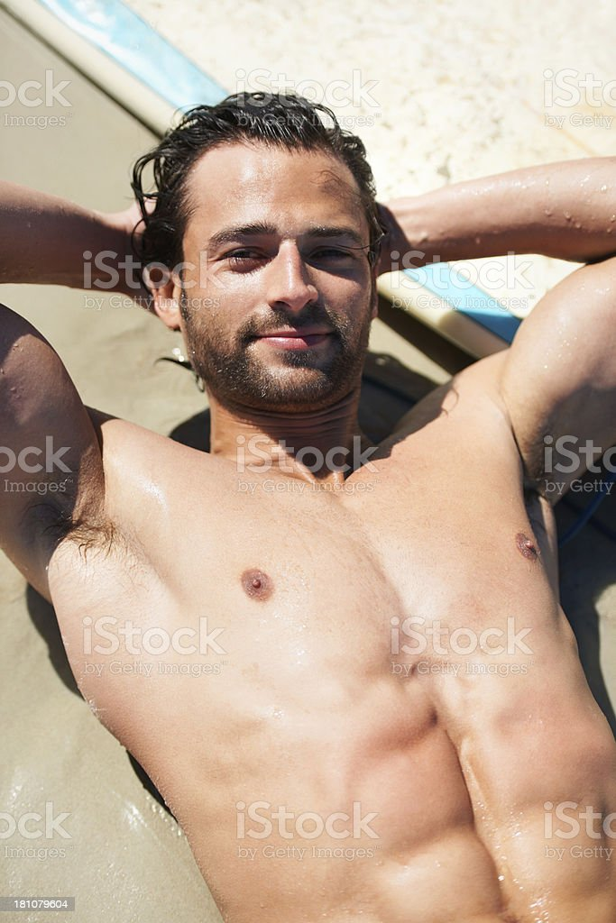 Sexy surfer royalty-free stock photo