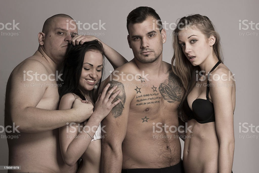 Sexy swinger foursome royalty-free stock photo