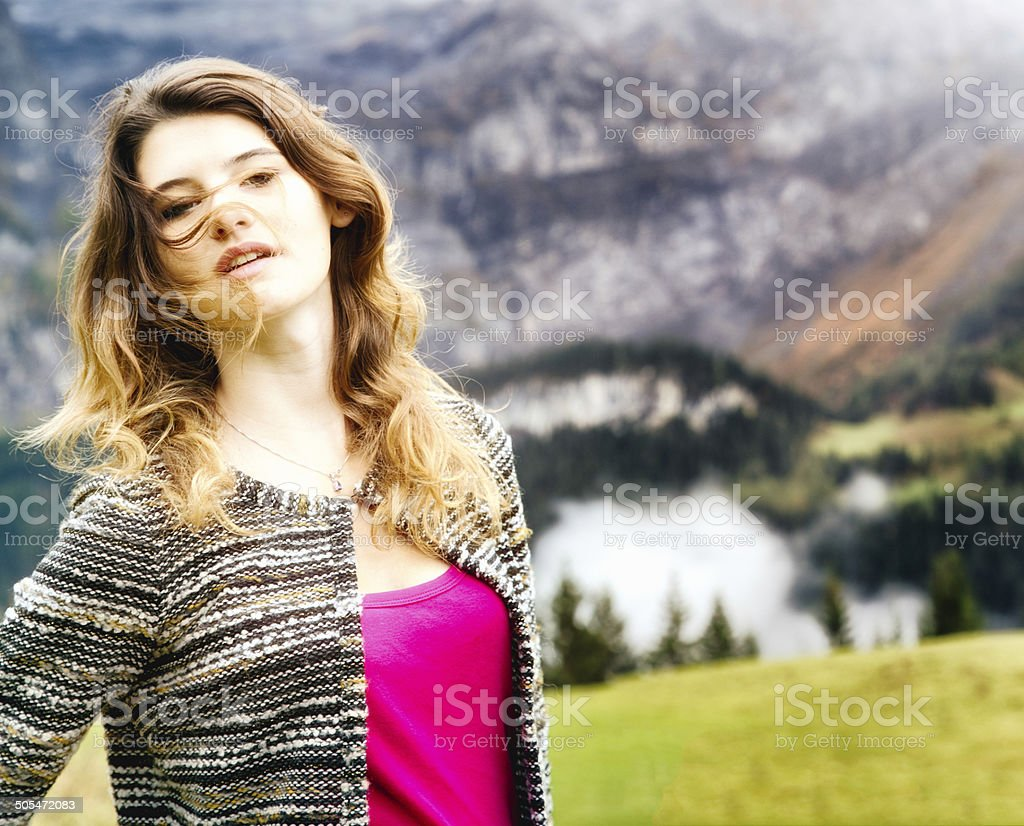 Sexy Switzerland stock photo