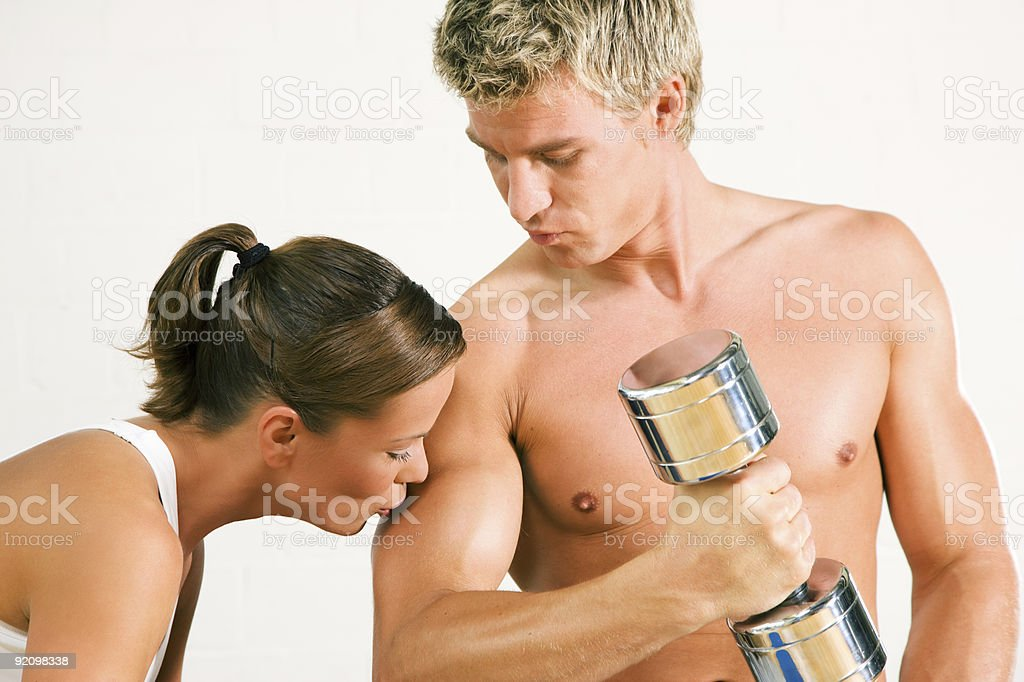 Sexy Training royalty-free stock photo