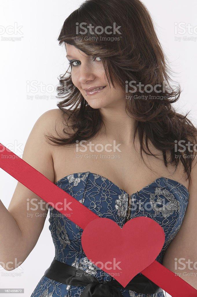 sexy valentine girl royalty-free stock photo