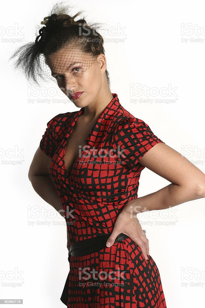 Sexy widow royalty-free stock photo