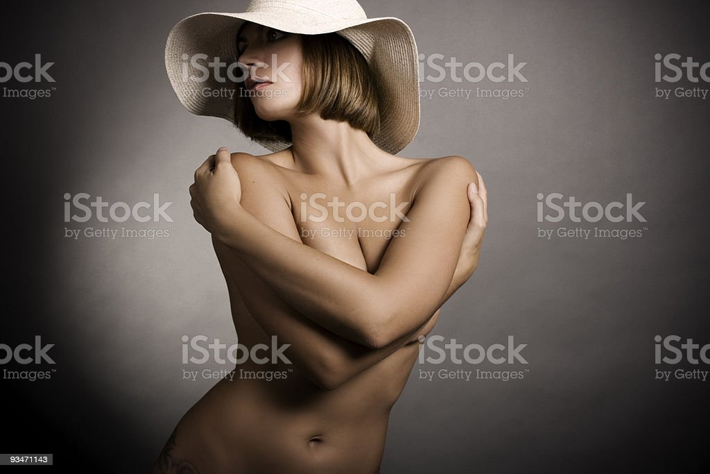Sexy woman and hat royalty-free stock photo