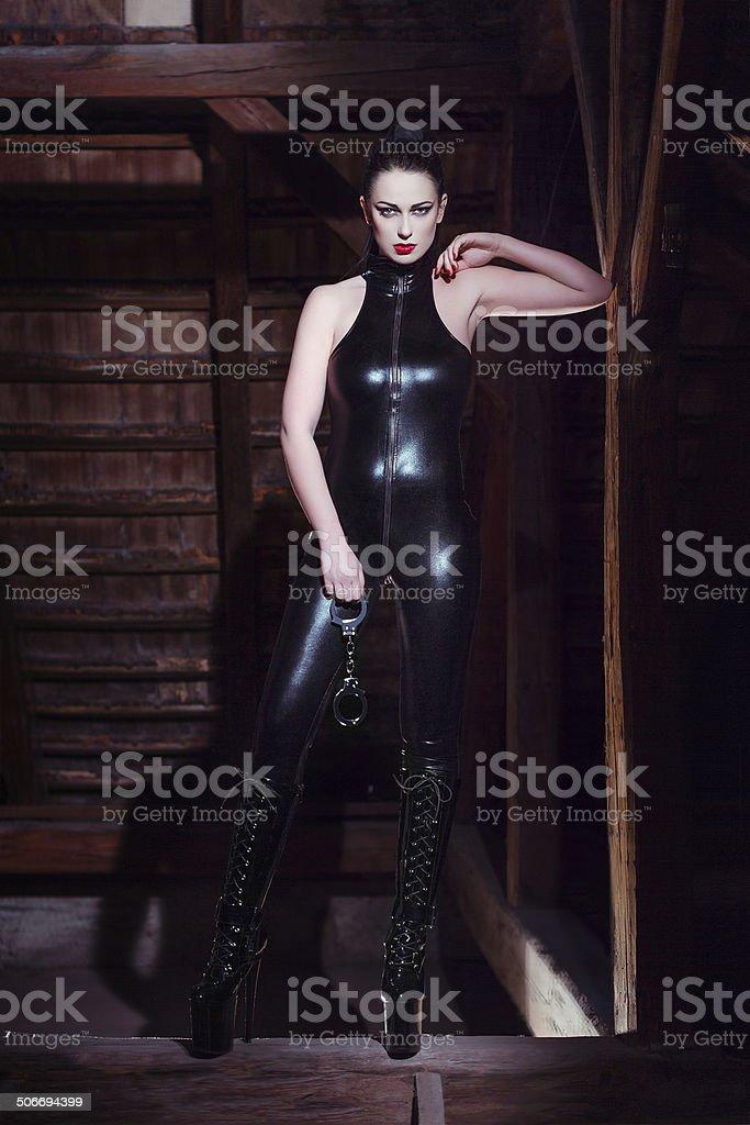 Sexy woman bdsm royalty-free stock photo