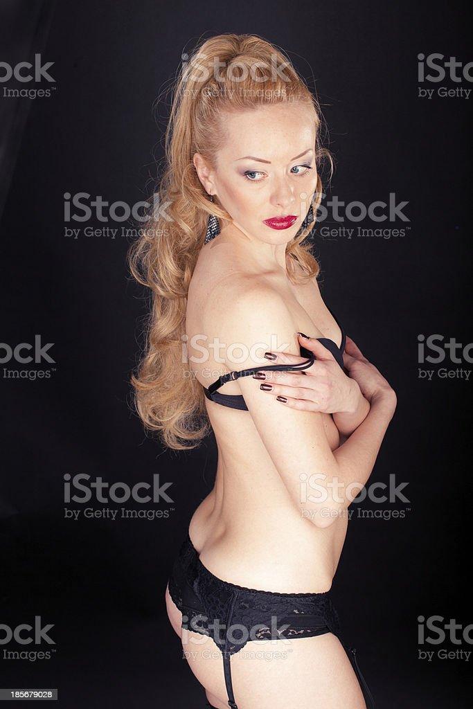 sexy Frau in Unterwäsche Lizenzfreies stock-foto