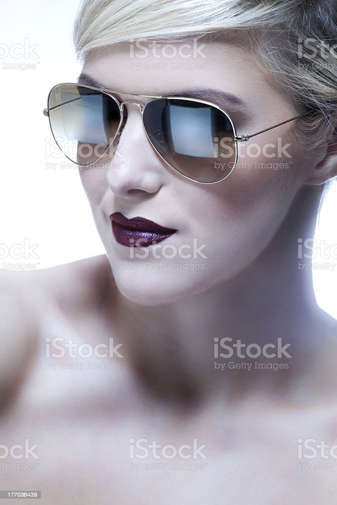 Sexy Woman in Sunglasses royalty-free stock photo