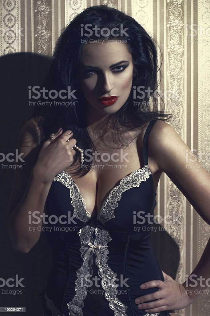 Sexy woman in underwear royalty-free stock photo