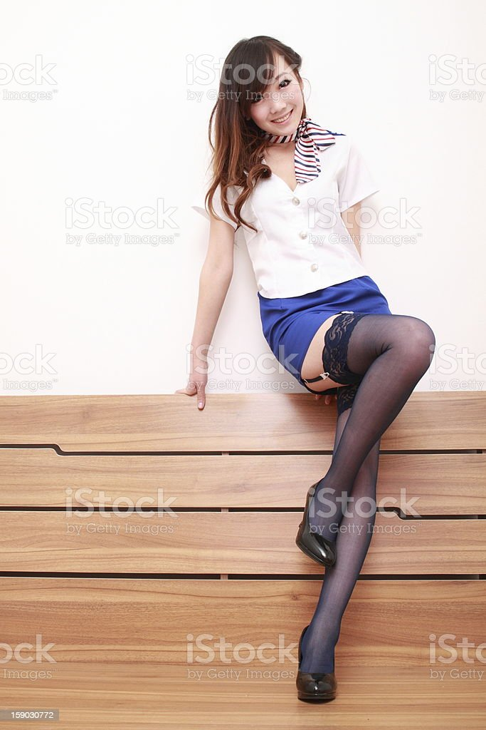 Sexy  woman in various fun poses stock photo