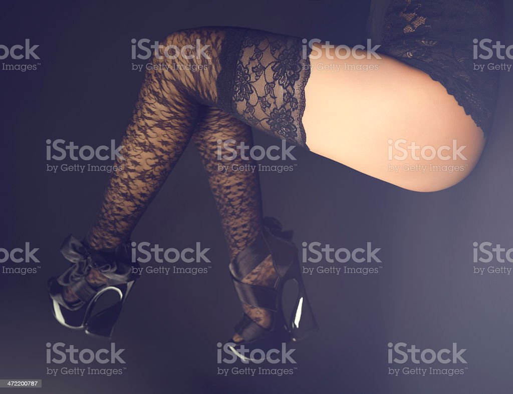 sexy woman legs stock photo