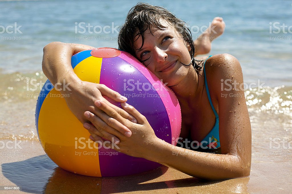 Sexy woman on the beach royalty-free stock photo