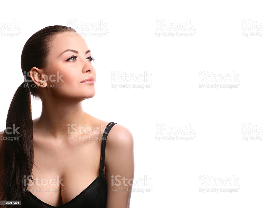 sexy woman on white royalty-free stock photo