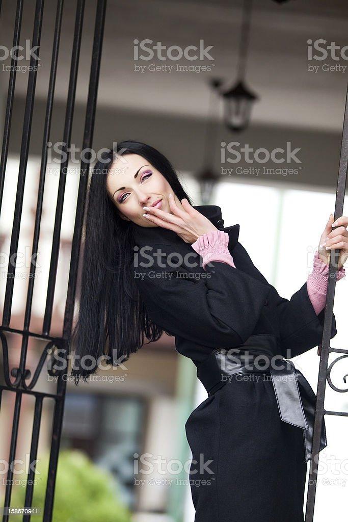 Sexy woman sending a kiss royalty-free stock photo