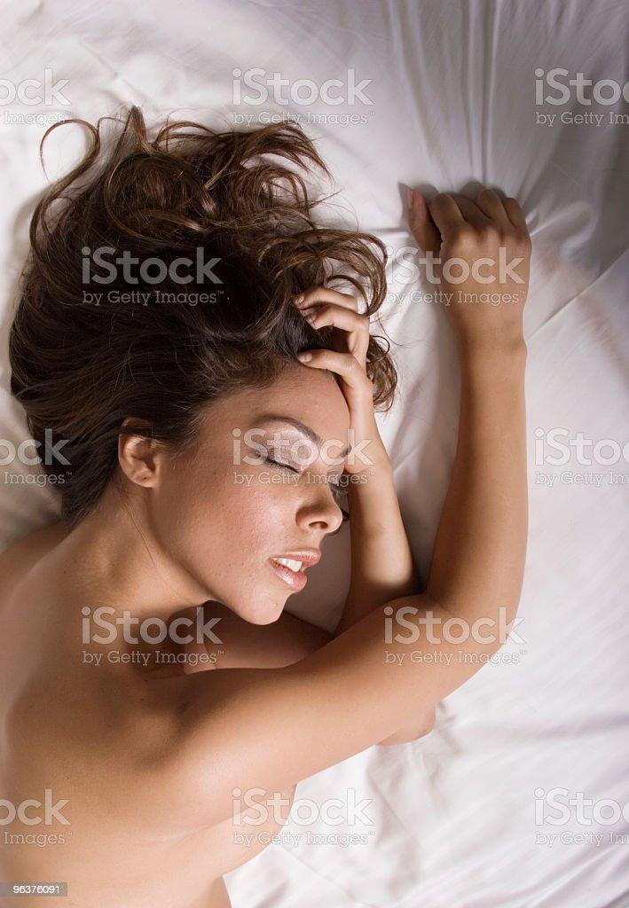 Sexy woman sleeping royalty-free stock photo
