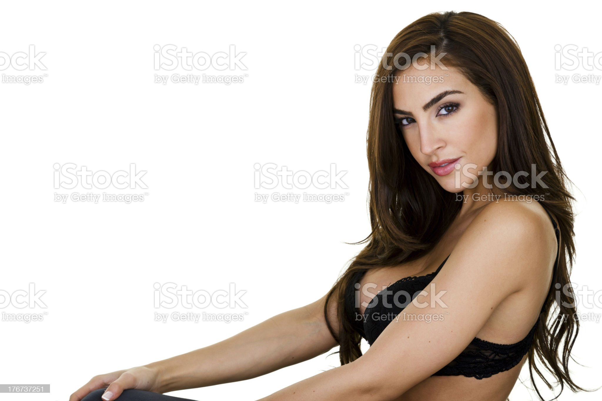 Sexy woman wearing lingerie royalty-free stock photo