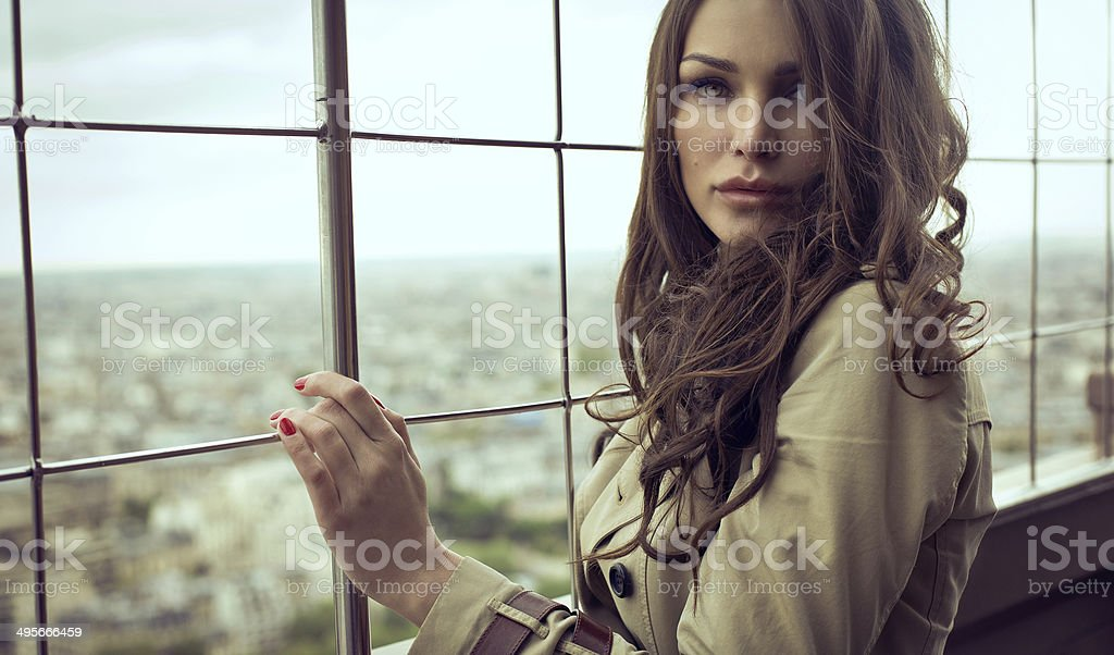 Sexy woman with beautiful eyes stock photo