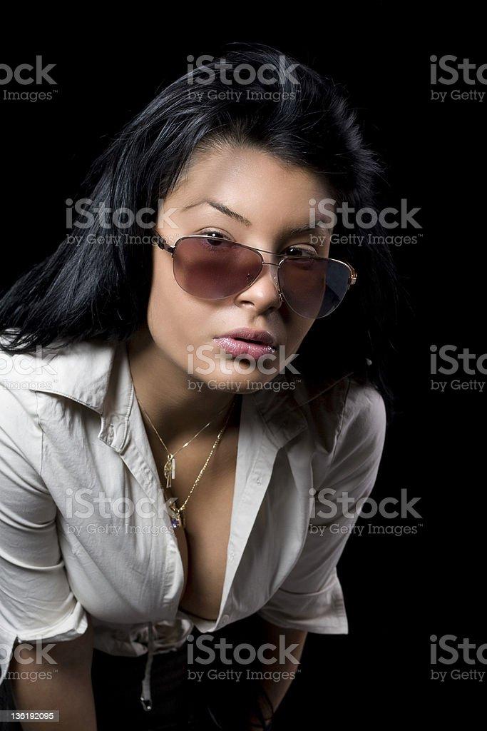 Sexy Woman with dekolte stock photo