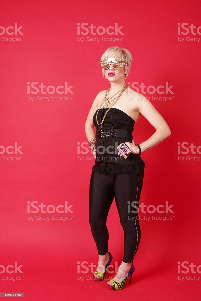 Sexy woman with fashion accessories royalty-free stock photo