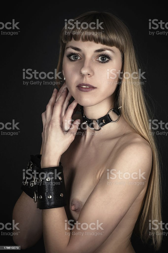 sexy woman with handcuffs royalty-free stock photo