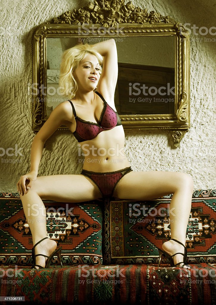 Sexy woman with lingerie stock photo