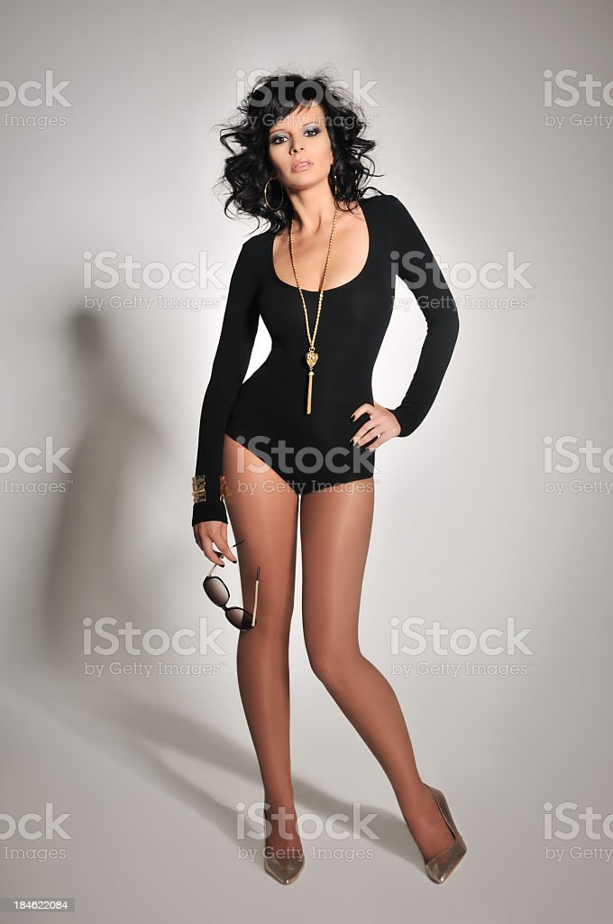 Sexy woman with sunglasses royalty-free stock photo
