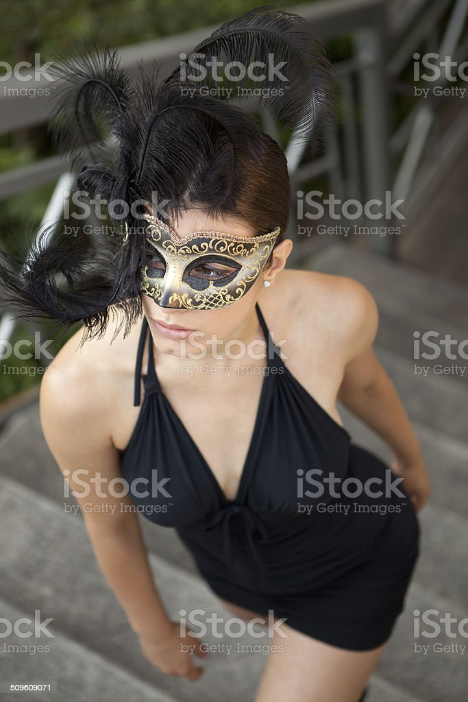 Sexy woman with Venetian mask royalty-free stock photo