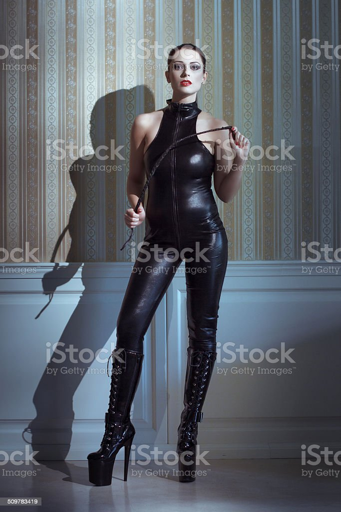 Sexy woman with whip royalty-free stock photo