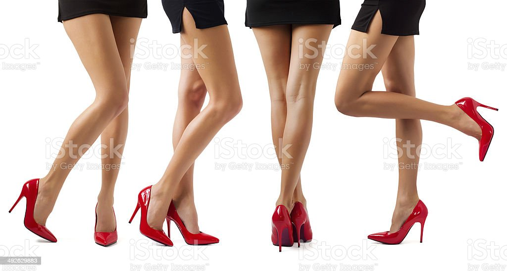 Sexy women legs stock photo