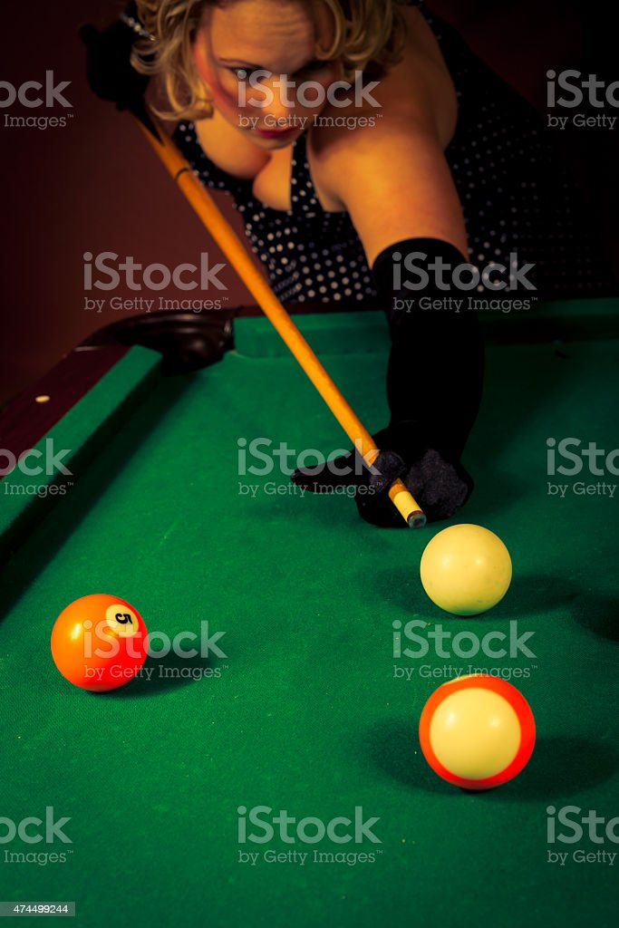 three ladies are playing billiards and having unforgettable threesome  24023