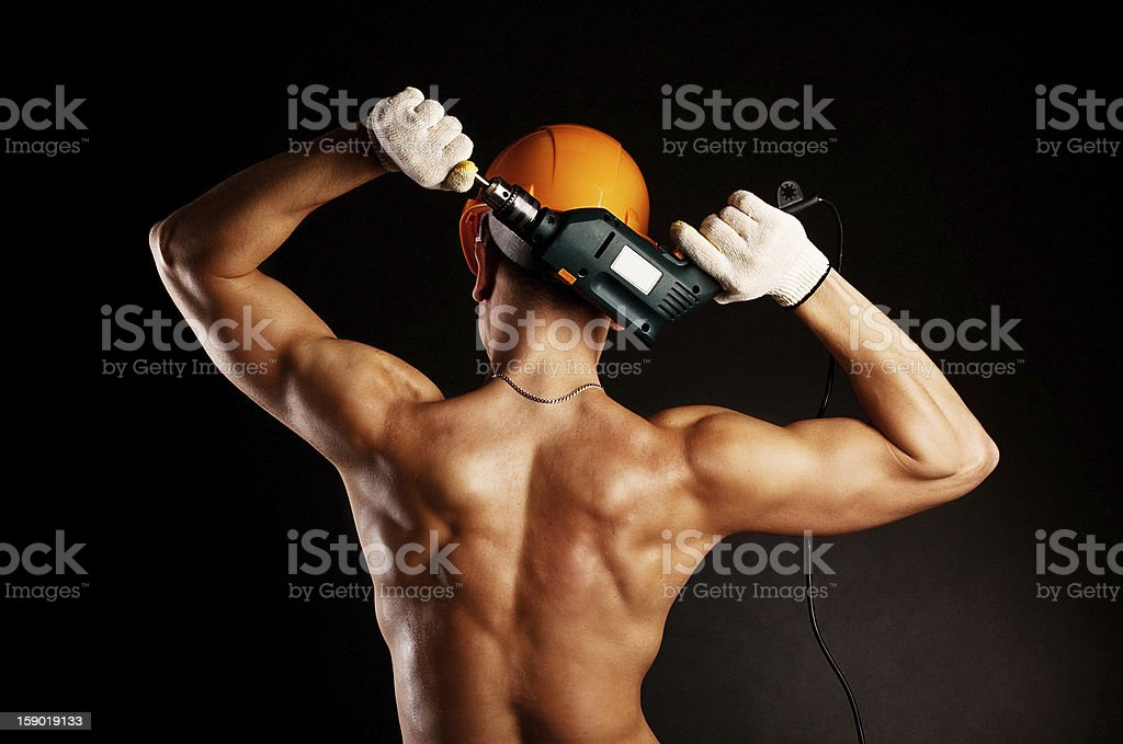 Sexy worker back royalty-free stock photo