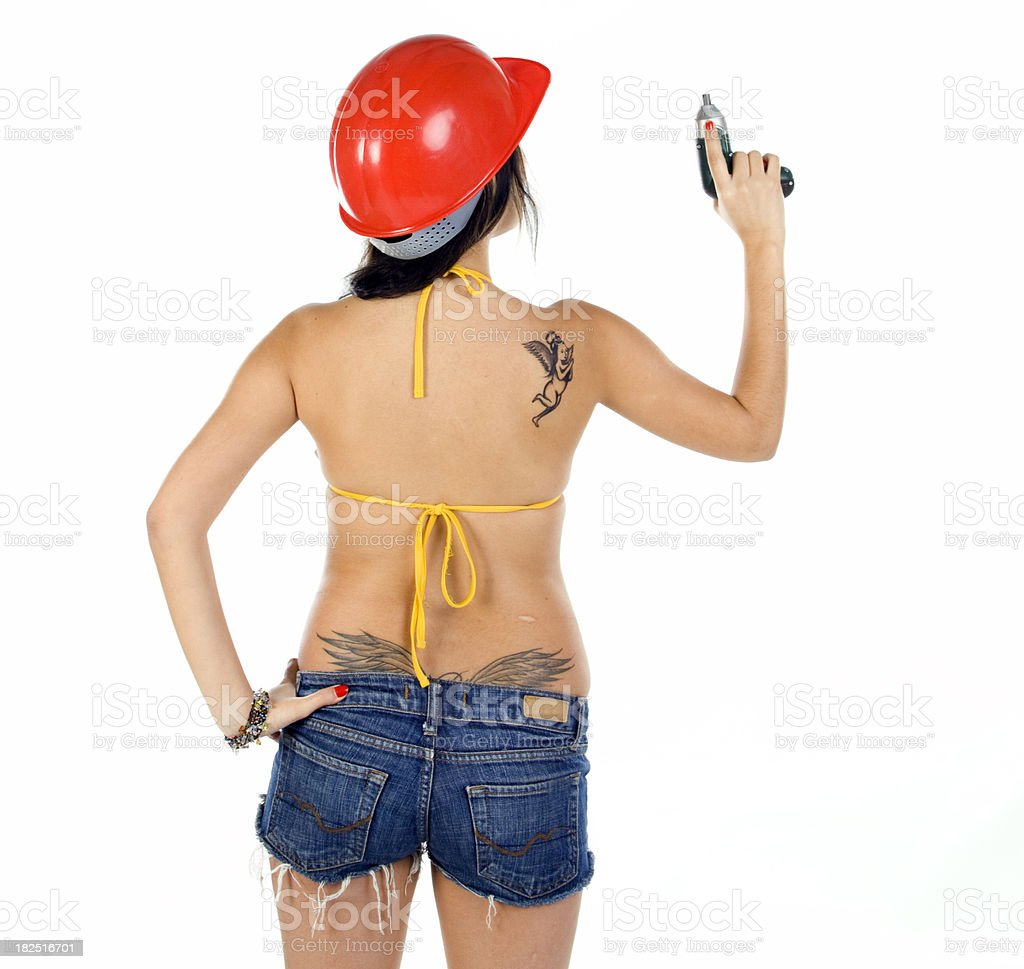 sexy worker royalty-free stock photo