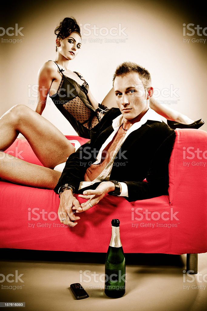 Sexy Young Couple Dating royalty-free stock photo