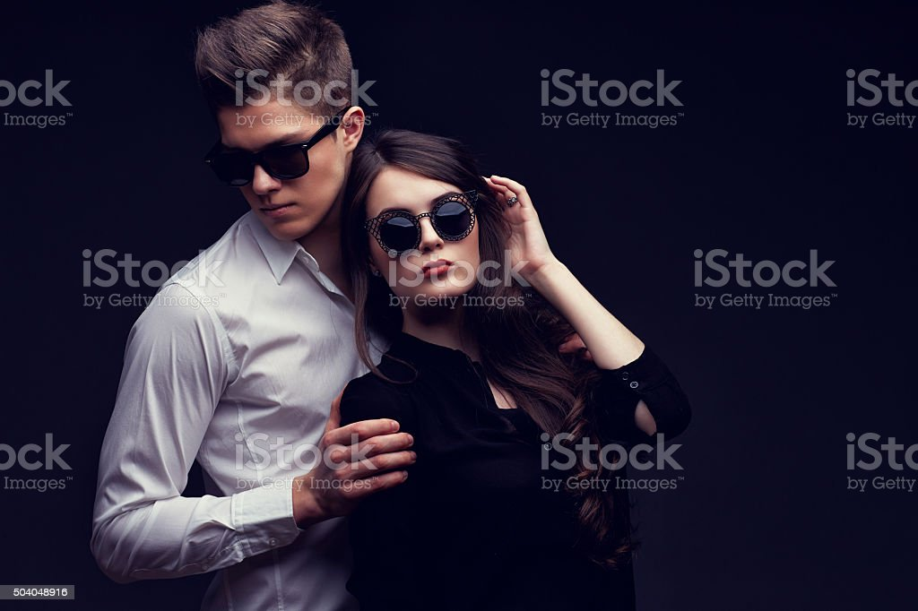Sexy young couple in love stock photo