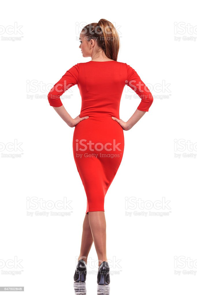 Sexy young fashion woman posing stock photo