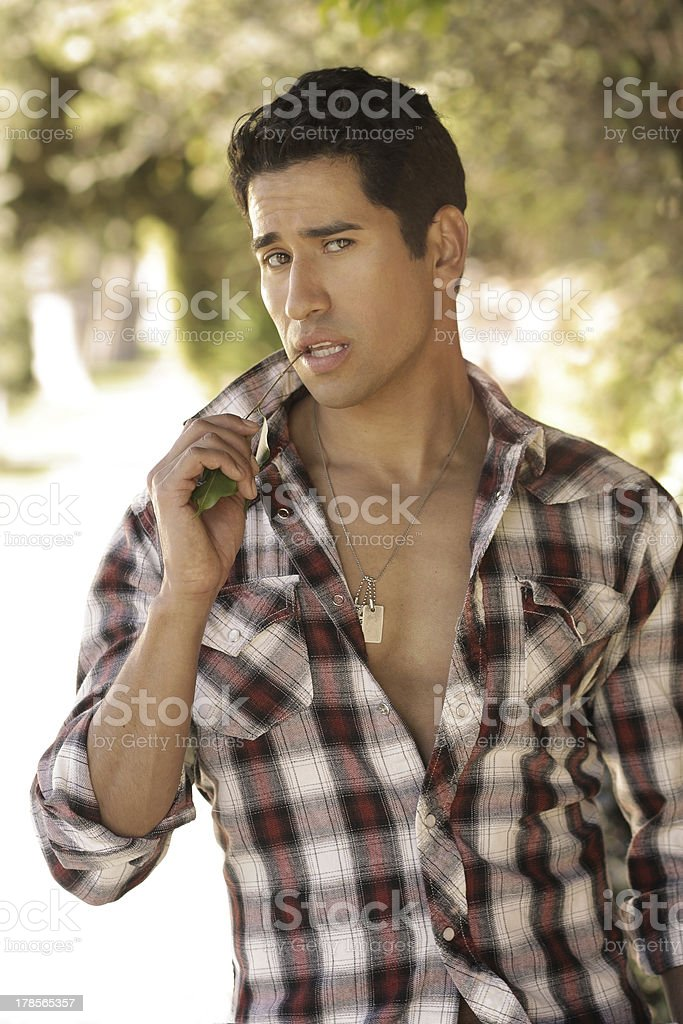 Sexy young hot guy stock photo