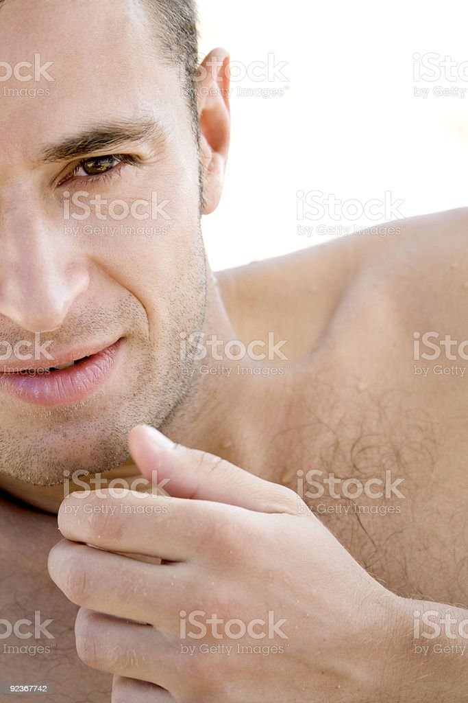 Sexy young man. royalty-free stock photo