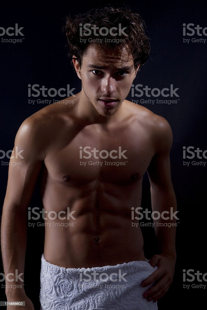 Sexy Young Man Portrait royalty-free stock photo