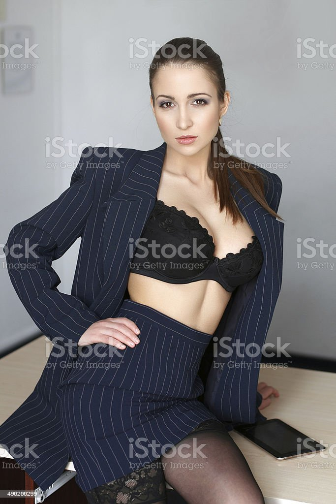 Sexy young provocative teacher royalty-free stock photo