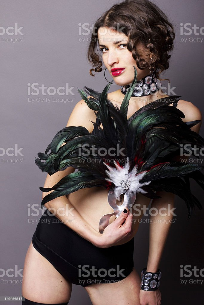Sexy young woman in lingerie royalty-free stock photo