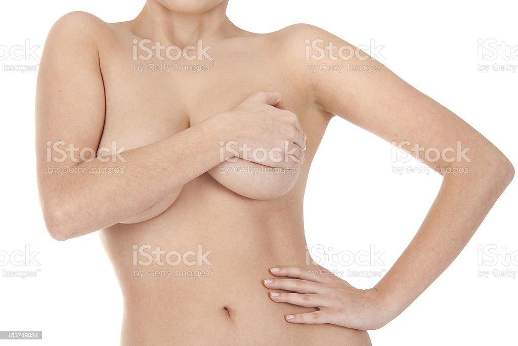 Jeune femme sexy topless photo libre de droits