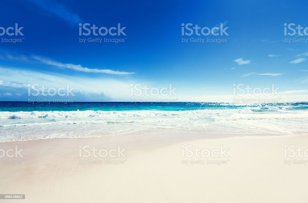 seychelles beach stock photo