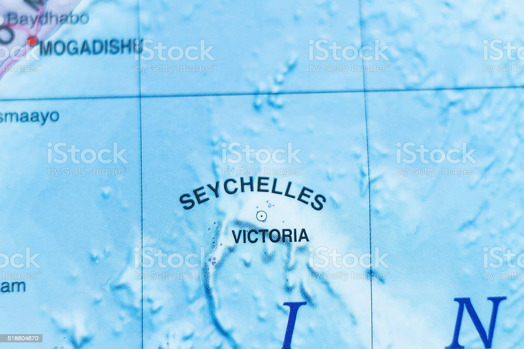 Seychelles country map . stock photo