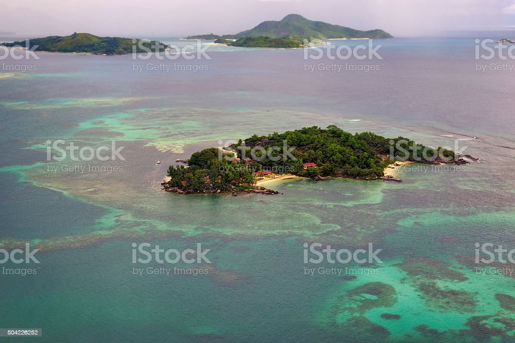 Seychelles in the Indian Ocean. stock photo