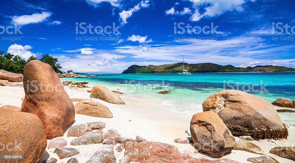 Seychelles island stock photo