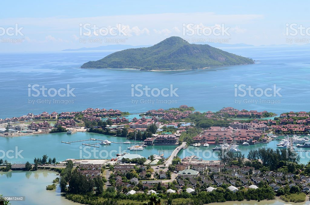 Seychelles islands. Mahe stock photo