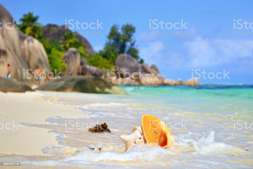 Seychelles, La Digue stock photo
