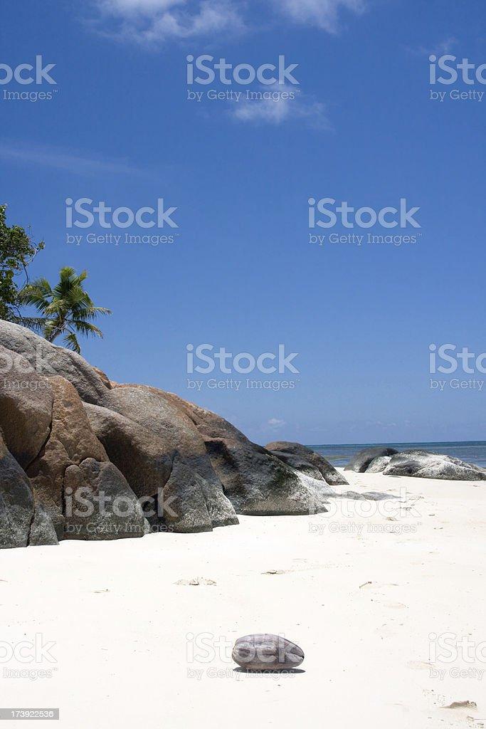 seychelles, tropical beach landscape royalty-free stock photo