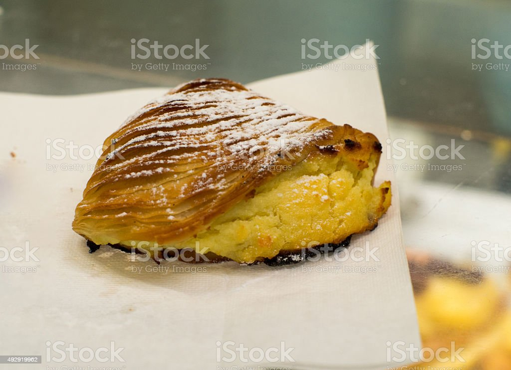 Sfogliatella stock photo
